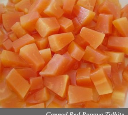 Canned Red Papaya Tidbits