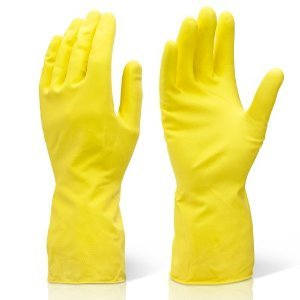 Gloves Yellow Rubber
