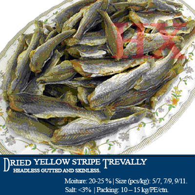Dried Yellow Strite Trevally